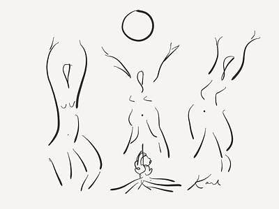 Digital Art - Moon Dance  by Karl Reid