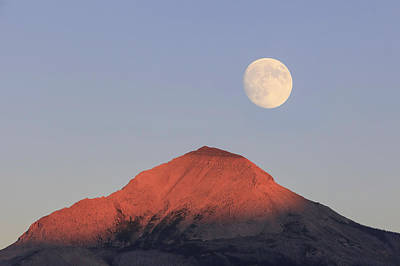 Photograph - Moon Dance Over Glacier National Park by Jack Bell