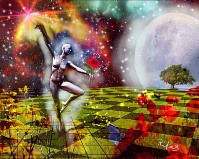 Digital Art - Moon Dancer #2 by Diana Riukas