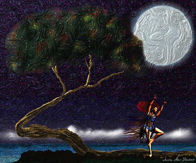 Digital Art - Moon Dancer by Iowan Stone-Flowers