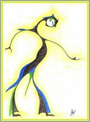 Drawing - Moon Dancer by Julia Woodman