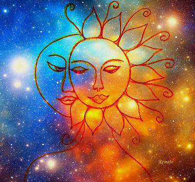 Moon Do You Love Me Asks The Sun... Art Print