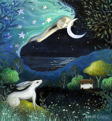 Moon Dream Art Print by Amanda Clark