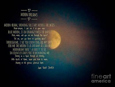 Photograph - Moon Dreams by Joan-Violet Stretch