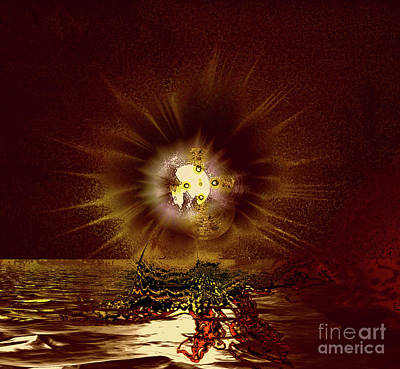 Photograph - Moon Explosion 5a by Elaine Hunter
