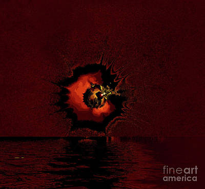 Photograph - Moon Explosion 9a by Elaine Hunter