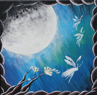 Painting - Moon Fairies by Kat Heckenbach