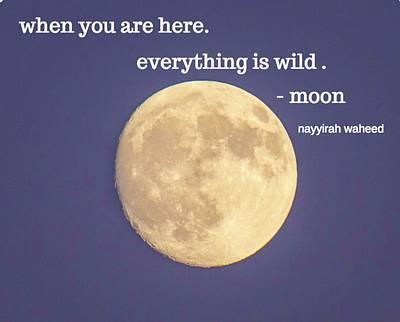 Photograph - Moon  by Mary Hahn Ward