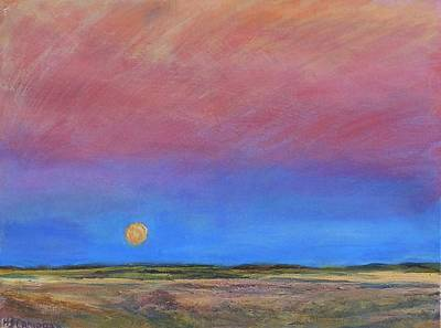 Painting - Harvest Moon  by Helen Campbell
