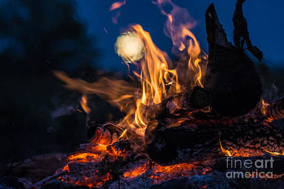 Photograph - Moon Fire by Cheryl Baxter