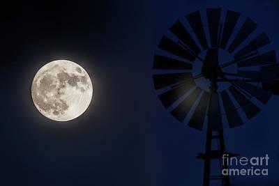 Photograph - Moon Flare by Jim Garrison