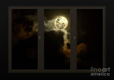 Moon From My Living Room Art Print by Kaye Menner