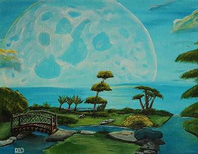 Reflection Harvest Painting - Moon Garden by David Bigelow