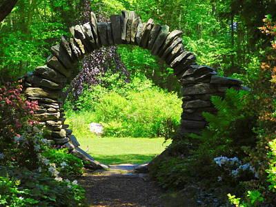 Photograph - Moon Gate At Kinney Azalea Gardens by Catherine Gagne