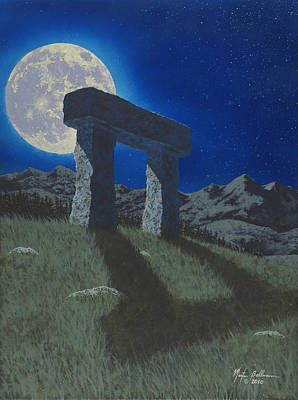 Nightime Painting - Moon Gate by Martin Bellmann