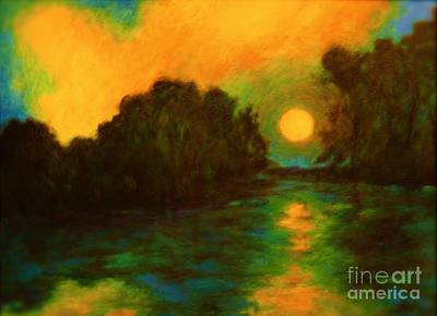 Painting - Moon Glow by Alison Caltrider