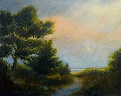 Painting - Moon Glow by Jan Blencowe