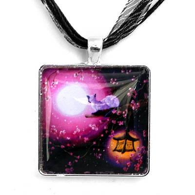 Jewelry - Moon Glow Lantern Glow Handmade Pendant by Laura Iverson