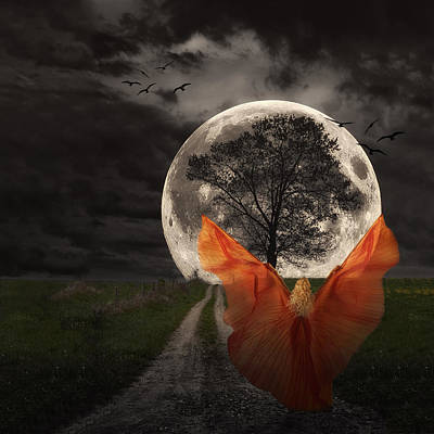 Composite Photograph - Moon Goddess by Tom Mc Nemar