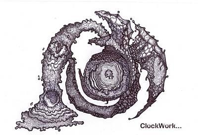 Moon Guardian Art Print by ClockWork Rockawn
