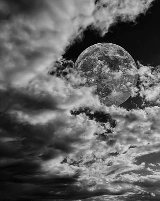 Photograph - Moon In Clouds 26 by Mark Myhaver