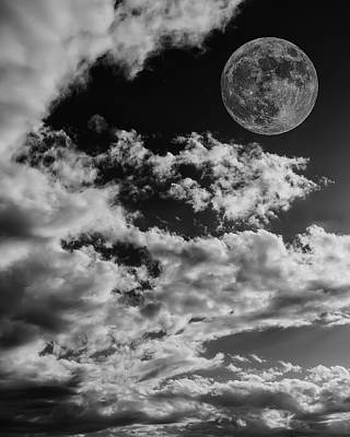 Photograph - Moon In Clouds 27 by Mark Myhaver
