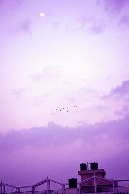 Photograph - Moon In Daylight by Usha Shantharam