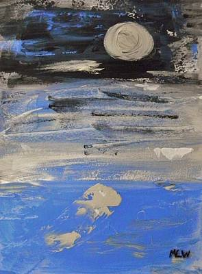 Painting - Moon In October Sky by Mary Carol Williams