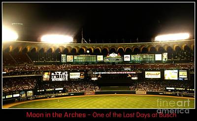 Photograph - Moon In The Arches - One Of The Last Days At Busch by Kelly Awad