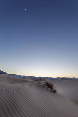 Desert Photograph - Moon In The Desert by Jon Glaser