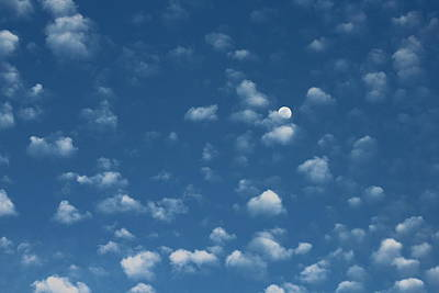 Photograph - Moon In The Morning Sky by Adrienne Christian