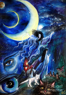 Ability Painting - Moon Is Calling... Night Can Become Endless by Sofia Metal Queen