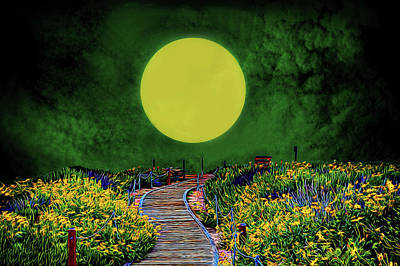 Mixed Media - Moon Is The Only Light... by Joseph Hollingsworth