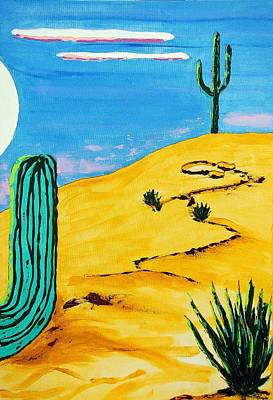 Achieving Royalty Free Images - Moon Light Cactus R Royalty-Free Image by J R Seymour