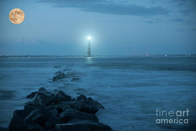 Photograph - Moon Light Glow by Dale Powell