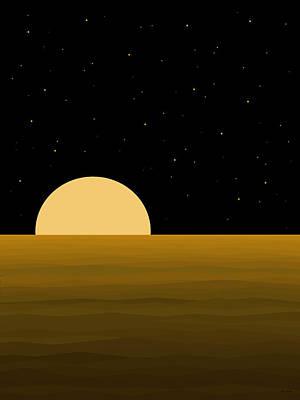Digital Art - Moon Light by Val Arie