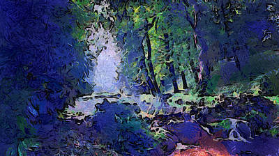 Photograph - Moon Light Wilderness. Van Gogh Fantasy by Jenny Rainbow