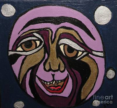 Gloss Varnish Painting - Moon Madness by Shelly Wiseberg