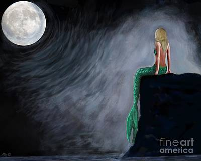 Painting - Moon Magical Beauty by Leslie Allen