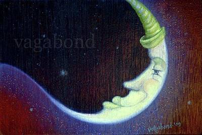 Painting - Moon Man by Suzn Art Memorial