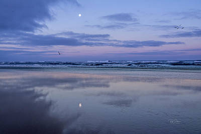 Photograph - Moon Morning by Bill Posner