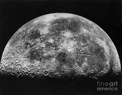 Moon Craters Photograph - Moon by Mount Wilson and Palomar Observatories