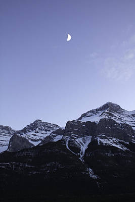 Photograph - Moon Mountain And Sky by Donna Munro