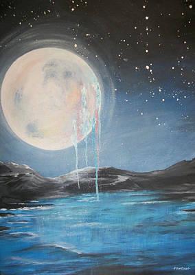 Nightsky Painting - Moon Drops by Pamela Pantuso