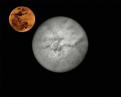Digital Art - Moon N Sun by Philip A Swiderski Jr