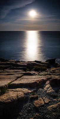Moon Over Acadia Shores Art Print