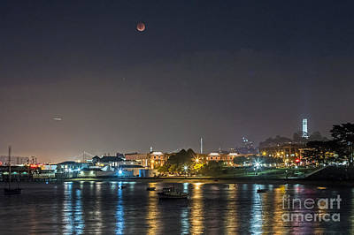 Photograph - Moon Over Aquatic Park by Kate Brown
