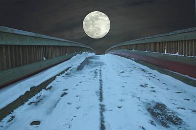 Photograph - Moon Over Bridge by Rafael Figueroa
