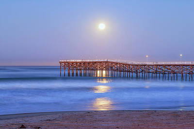 Missions San Diego Photograph - Moon Over Crystal by Joseph S Giacalone
