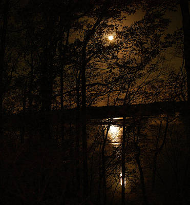 Photograph - Moon Over Elk River by Gwendolyn Christopher